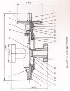 Задвижка механическая ЗМ 80х35