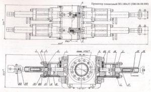 Превентор плашечный ППГ180х35