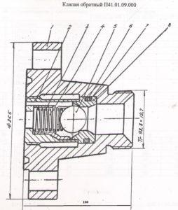 Клапан обратный КО 80х35
